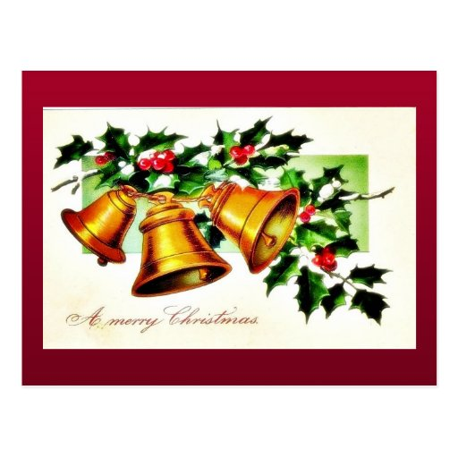 Christmas greeting with a pair on horse cart post card