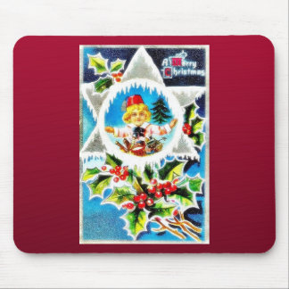 Christmas greeting with a trumphet boy wishes mouse pads