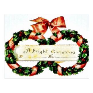Christmas greeting with an angel like girl has bas postcard