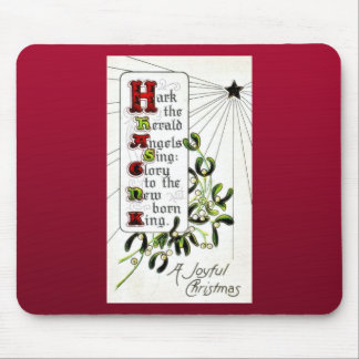 Christmas greeting with Christmas Wishes written Mouse Pad