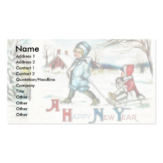 Christmas greeting with Jesus, Mary and joseph wal Business Cards