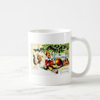 Christmas greeting with jockers doing some magics mugs