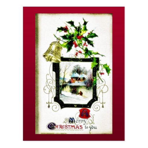Christmas greeting with Mary holds infant jesus Post Cards
