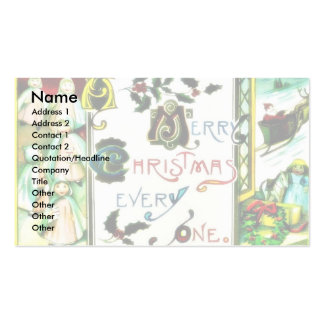 Christmas greeting with people with gift around an Double-Sided standard business cards (Pack of 100)