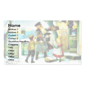 Christmas greeting with santa claus presents gifts Double-Sided standard business cards (Pack of 100)