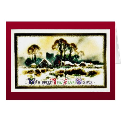 Christmas greeting with scenary greeting card