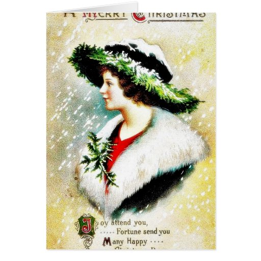 Christmas greeting with scenary in mirror cards