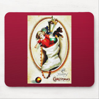 Christmas greeting with shocks full gifts reflects mouse pad