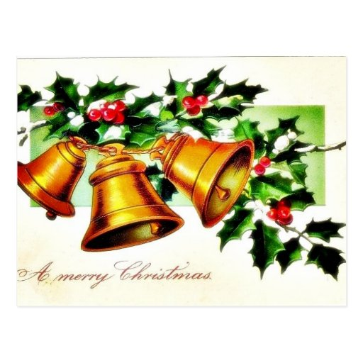 Christmas greeting with two angels huging postcard