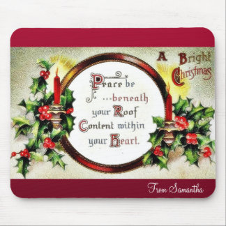 Christmas greeting with wishes written in a mirror mouse pad