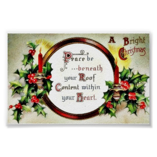 Christmas greeting with wishes written in a mirror poster