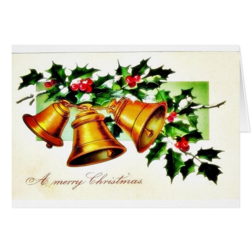 Christmas greeting with young couple standing card
