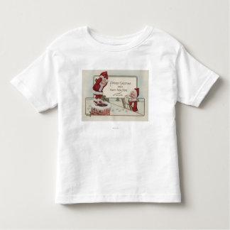 Christmas GreetingLittle KidsChimney Toddler T-shirt