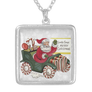 Christmas Greetings 1 Silver Plated Necklace