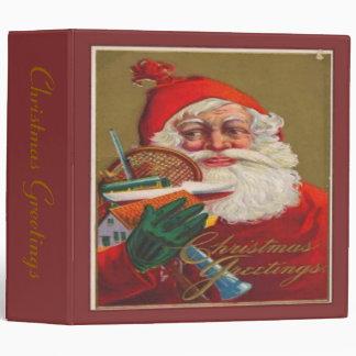 Christmas Greetings 3 Ring Binder
