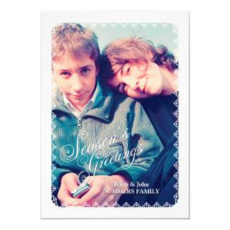 Christmas Greetings 5x7 Paper Invitation Card