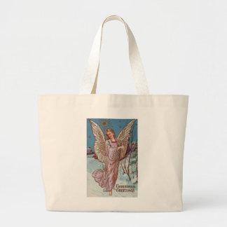 Christmas Greetings Angel Jumbo Tote Bag