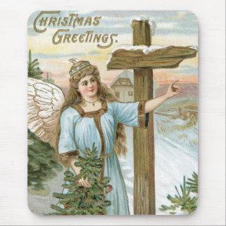 Christmas Greetings Angel Mouse Pad