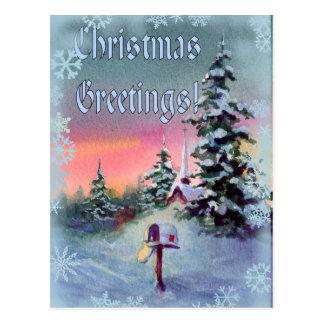 CHRISTMAS GREETINGS by SHARON SHARPE Postcard