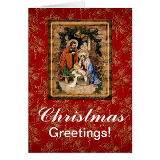 Christmas Greetings Custom Card