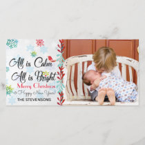 Christmas Greetings Custom Photo Holiday Card