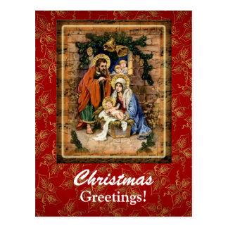 Christmas Greetings Custom Postcard