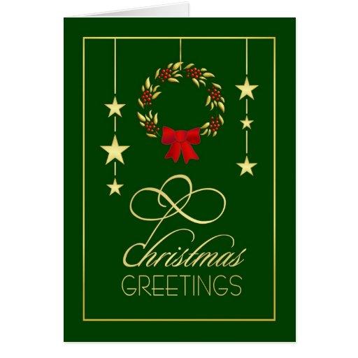 Christmas greetings elegant christmas cards zazzle for Elegant christmas card messages