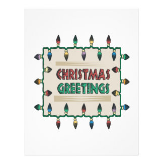 Christmas Greetings Full Color Flyer