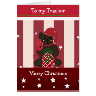 Christmas Greetings for my Teacher Card