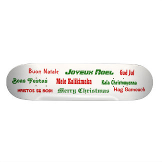 Christmas Greetings from Around the World Skateboard Deck