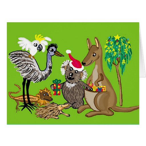 Christmas greetings from Australia Large Greeting Card
