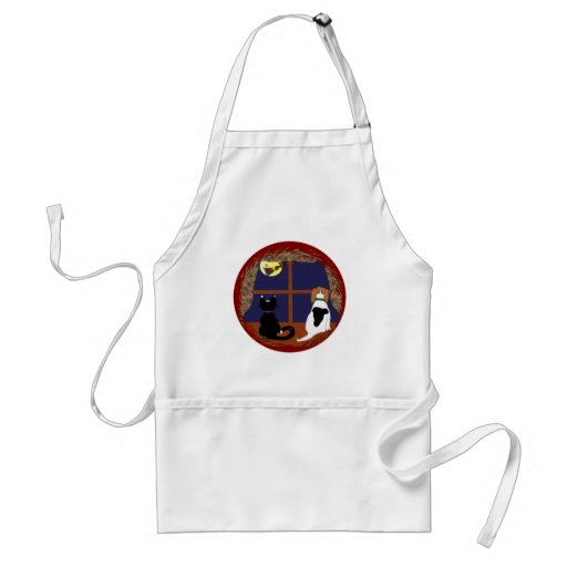 Christmas Greetings from Beagle and Cat Adult Apron