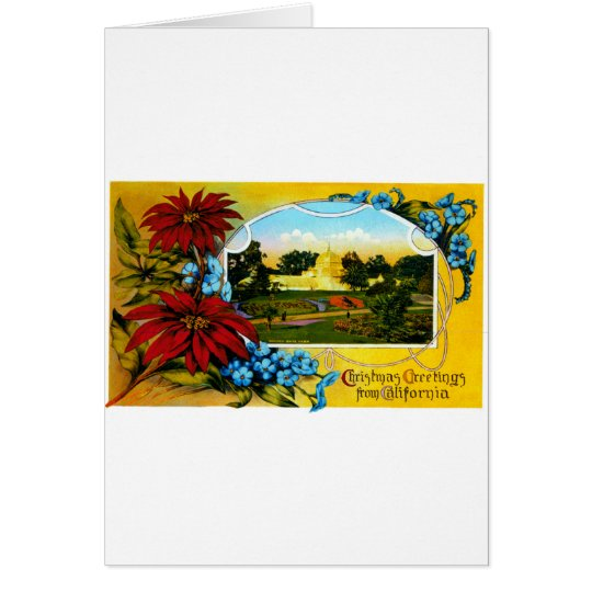 Christmas Greetings from Golden Gate Park Card
