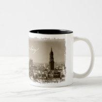Christmas greetings from Hamburg, Christmas card,  Two-Tone Coffee Mug