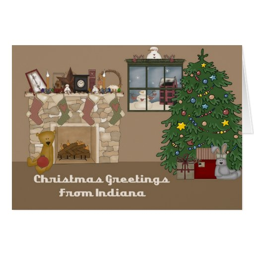 Christmas Greetings From Indiana Greeting Cards