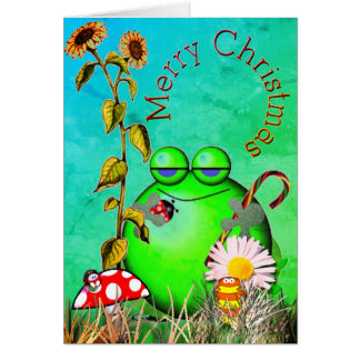 Christmas greetings from little ones card