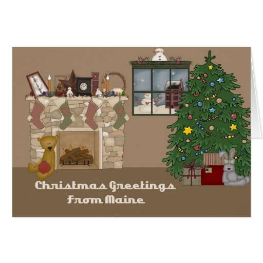 Christmas Greetings From Maine Card