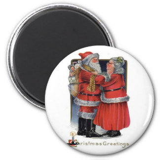 Christmas Greetings from Mr and Mrs Claus Magnet