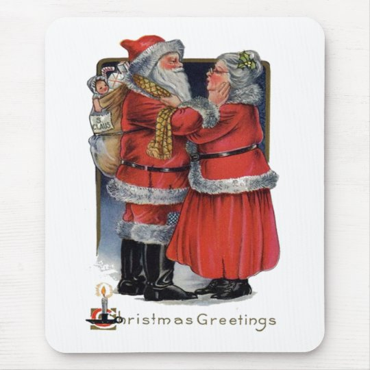 Christmas Greetings from Mr and Mrs Claus Mouse Pad