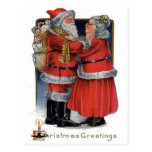 Christmas Greetings from Mr and Mrs Claus Postcard