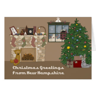 Christmas Greetings From New Hampshire Greeting Card