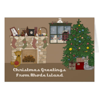 Christmas Greetings From Rhode Island Card