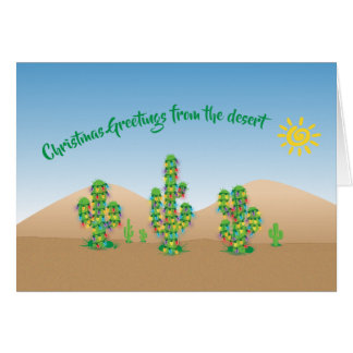 Christmas Greetings From The Desert Holiday Card