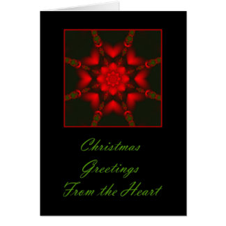 Christmas Greetings From The Heart Card