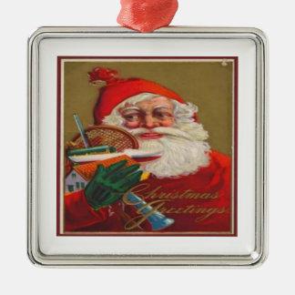 Christmas Greetings Metal Ornament