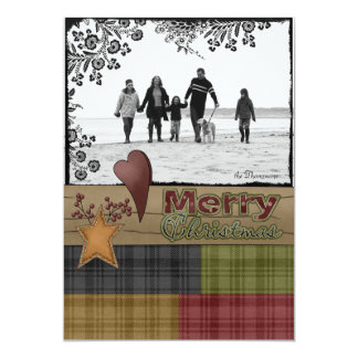 Christmas Greetings Photo Cards (Country Style) Announcement