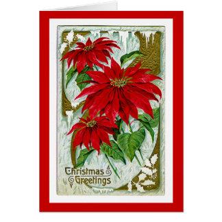 Christmas Greetings Pointsettia Card