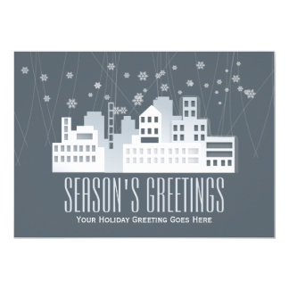 Christmas greetings real estate business card