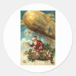 Christmas Greetings Round Sticker