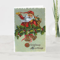 Christmas Greetings Santa/Toys Greeting Card